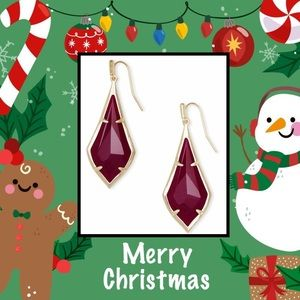 💋COMING SOON - Ruby Red Gold Dangle Earrings